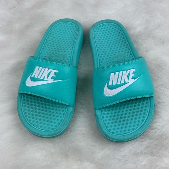 Womens Nike Teal Mint Slides Size 7